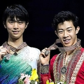 羽生結弦、ネイサン・チェン【写真:Getty Images】