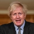 英ロンドンにある首相官邸で会見に臨むボリス・ジョンソン首相(2021年1月26日撮影)。(c)JUSTIN TALLIS / POOL / AFP
