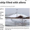 教会のドーム型屋根をUFOと勘違い(画像は『C&G Newspapers 2018年1月12日付「Man fires shot at church he thought was a spaceship filled with aliens」(Photo by Terry Oparka)』のスクリーンショット)