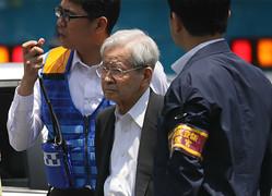 飯塚幸三被告(2019年6月、時事)