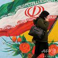 イランの国旗が描かれた壁(2020年2月20日撮影、資料写真)。(c)ATTA KENARE / AFP