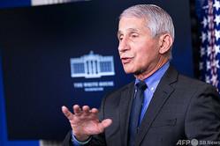 米国立アレルギー感染症研究所のアンソニー・ファウチ所長(2021年4月13日撮影、資料写真)。(c)Brendan Smialowski / AFP