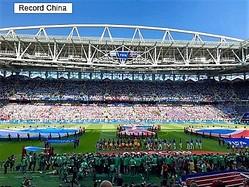 18日、「人種差別」疑惑が浮上している元アルゼンチン代表のレジェンド、ディエゴ・マラドーナ氏が疑惑を否定したが、韓国のネット上には非難の声が殺到している。写真はアルゼンチン対アイスランドの試合会場。