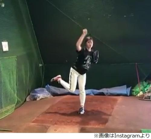 稲村亜美が投球練習再開「さらなる進化を」