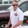 米カリフォルニア州サンディエゴで、軍法会議に向かう米海軍特殊部隊「シールズ」の特殊作戦部隊を率いていたエドワード・ギャラガー隊長(2019年6月21日撮影)。(c)SANDY HUFFAKER / AFP