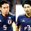 日本代表の長友佑都(左)と柴崎岳(右)【写真:Getty Images】