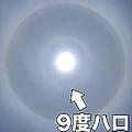 太陽に白く光るリング…非常に珍しい「9度ハロ」東海から関東で確認