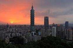 台湾一の高層ビル台北101 (DANIEL SHIH/AFP via Getty Images)
