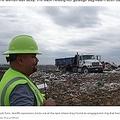 婚約指輪が埋もれる寸前だったゴミ処理場(画像は『WFAA.com 2019年11月7日付「'One in a million': Alvarado landfill crew finds woman's engagement ring that was mistakenly tossed」(Jennifer Prohov/WFAA)』のスクリーンショット)
