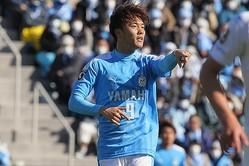 開幕の山形戦で2得点を挙げ、チームを勝利に導いた小川航基。(C)J.LEAGUE