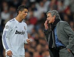 2010年当時のモウリーニョとロナウド。11-12シーズンにはリーグ制覇を成し遂げた。 (C) Getty Images