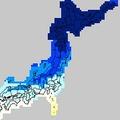 全国: 日中の最高気温(2月8日の予想、気象庁ウェブサイトより)