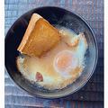 トーストと玉子の味噌汁に反響