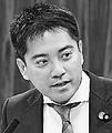 (写真)質問する辰巳孝太郎議員=15日、参院経産委