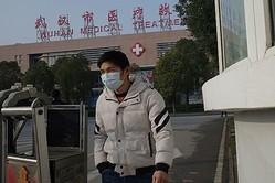 中国湖北省武漢の武漢市医療救治センター(NOEL CELIS/AFP via Getty Images)