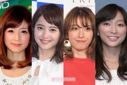 (左から)小倉優子、佐々木希、木下優樹菜、杏