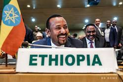 エチオピアのアビー・アハメド首相。首都アディスアベバのアフリカ連合(AU)本部で(2019年1月17日撮影)。(c)EDUARDO SOTERAS / AFP