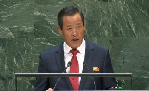 [画像] 北朝鮮大使が声明 「非核化は交渉テーブルから下ろされた」