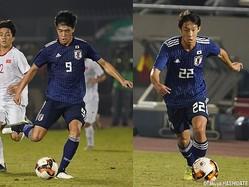 FW染野唯月(尚志高、左)、MF武田英寿(青森山田高)はアジアの戦いの厳しさを体感した