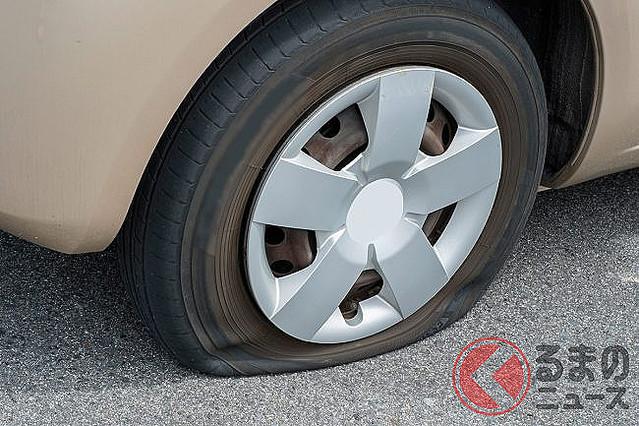 なぜスペアタイヤ減少? パンクは修理キットで対処出来るのか