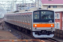 京葉・武蔵野線の205系。葛西臨海公園駅などで「罵声大会」が発生した