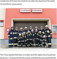過去10年で誕生したのは女の子だけの村(画像は『Good Morning America 2019年8月8日付「There's a tiny village where only girls are born」(Lukasz Kalinowski/East News via Polaris)』のスクリーンショット)