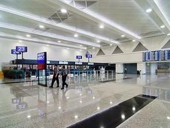 桃園国際空港の出発ロビー