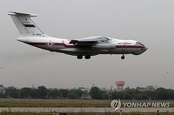 北朝鮮の輸送機(IL−76)=(聯合ニュース)