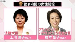 わずか2人…女性閣僚少ない日本 海外は?