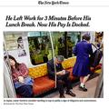 『ニューヨーク・タイムス』も過労死や高プロ制度と併せて、紹介していた