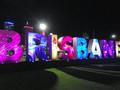 2014年に主要20カ国・地域(G20)首脳会議が開かれた際、ライトアップされたブリスベン市内