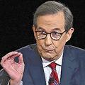 29日、米オハイオ州クリーブランドで、大統領選候補者テレビ討論会の司会を務め、発言するウォレス氏(AP)