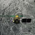 インド月面探査計画で、予定される月面着陸を前にした着陸機ビクラム。インド宇宙研究機関(ISRO)による生中継の画面を撮影したもの(2019年8月6日撮影、資料写真)。(c)AFP=時事/AFPBB News
