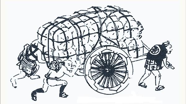引っ越し 人力車