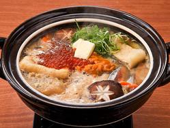 """""""ウニ&バター""""の濃厚スープにいくら乗せ!「悪魔鍋」が超濃厚ウマ♪"""