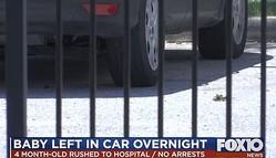 米国の男性が、車の窓を破って車内に12時間放置されていた赤ちゃんを救出!
