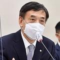 会議で発言する李柱烈総裁=23日、ソウル(聯合ニュース)
