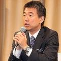 写真は大阪市の「橋下」前市長。今回不祥事が発覚したのは、あわら市の「橋本」市長だ(2015年3月撮影)