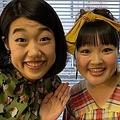 横澤夏子と柳原可奈子(画像は『横澤夏子 2019年2月11日付Instagram「#可奈子さんとお仕事一緒だったのよー」』のスクリーンショット)