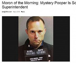 教育長、近隣高校に忍び込んでは排便(画像は『norfolkdailynews.com 2018年5月4日付「Moron of the Morning: Mystery Pooper Is School Superintendent」』のスクリーンショット)