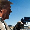 ダーティーハリー気取りのトランプ大統領(Photo by Warner Bros/Kobal/Shutterstock; Shutterstock)