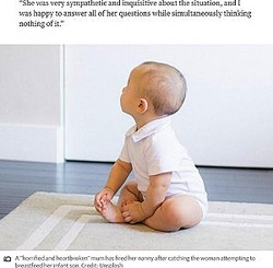 ベビーシッターが赤ちゃんに授乳で物議(画像は『PerthNow 2020年8月11日付「'Horrified' mum fires nanny who she caught on camera breastfeeding her baby」(Credit: Unsplash)』のスクリーンショット)