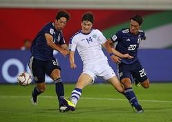 日本戦で強烈なソロ・ゴールを決めたウズベキスタン代表FW、ショムロドフ(中央)も11人入り。残念ながら森保ジャパンからの選出はゼロだった。(C)Getty Images