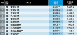 「総資産が多い国公立大学」ランキングTOP10