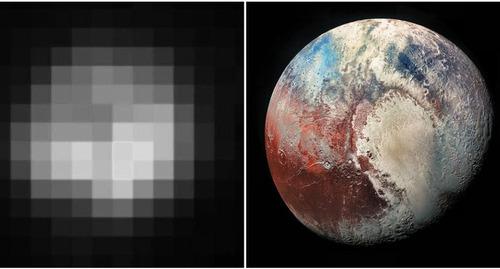 冥王星の写真は24年間でこれだけ変わった…1994年と2018年の比較写真 ...