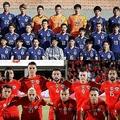 (上から)日本代表、チリ代表【写真:Getty Images】