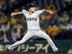 力投する巨人の内野手・増田大輝 (C) Kyodo News