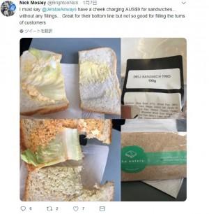 【海外発!Breaking News】ジェットスター機内でレタス1枚のサンドイッチを700円で販売