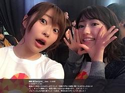 『24時間テレビ』での指原莉乃と渡辺麻友(画像は『指原莉乃 2017年8月27日付Twitter「#24時間テレビ40 最後まで参加したのは久しぶりでした!」』のスクリーンショット)