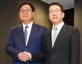 左から益子会長と加藤CEO